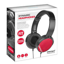 Intempo EE1264 Dynamic Over-Ear Headphone Red
