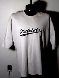 "Men's REEBOK Gray Heavy NFL Short Sleeve ""Patriots"" Jersey Size 2XL"