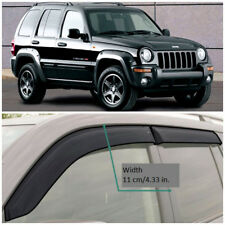 JE10101 Window Visors Vent Wide Deflectors For Jeep Cherokee II KJ 2001-2007