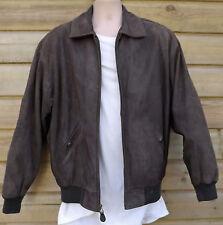 Timberland Weathergear Brown Nubuck Leather Bomber Jacket ~ L - c1996