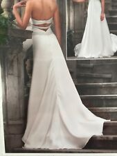 White Wedding Dress Size 14 Essense Of Australia Backless Strapless