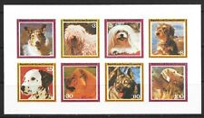 1978 Equatorial Guinea imperforate miniature sheet depicting dogs unmounted mint