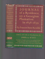 Journal of a Residence on a Georgian Plantation in 1838-1839, Frances Kemble HC