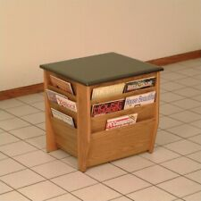 Pemberly Row End Table with Magazine Pockets in Medium Oak