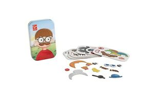 Hape Magnetic Face Game In A Tin -  Children's Game - Children's Activity - New