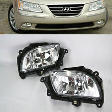 For 09-10 Hyundai Sonata Pair Clear Fog Lights Bumper Lamps Kit W/Bulbs Wiring