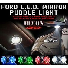 RECON 264242GR Puddle 09-14 F150 Raptor Green Mirror Light LED Kit