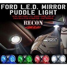 RECON 264242GR Puddle 09-14 F150 Raptor Green Mirror Light LED Kit