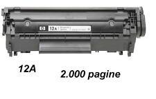 Toner Rigenerato per HPQ2612A nero 2.000 pagine 12A