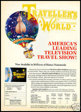 1984 vintage ad for Travel World TV Show