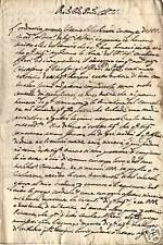 TORRE DEL GRECO NAPOLI MANOSCRITTO 600sco