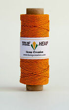 Natural Hemp Twine Cord 20lb 1mm 205feet/62m 50gram per Spool - PICK YOUR COLOR