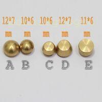 10X Leathercraft Solid Brass Plain Head Chicago Screws Button Studs Nail Rivets