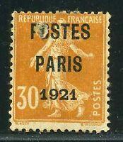 """FRANCE PREO N° 29  """" SEMEUSE 30 c  POSTES PARIS 1921 """" NEUF (x) A VOIR"""
