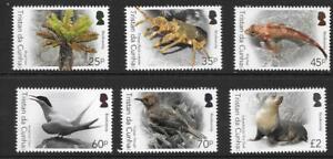 tristan ca 2016 tdc bird seal fish lobster bog fern biodiversity anima nature 6v