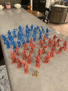 BMC Classic Marx Military Army Figures Revolutionary War 50 Cheap!! Toys