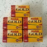 Kodak Gold 100 - Set of 5 - 35mm 12 Exposure - Expired - Stored Cold!