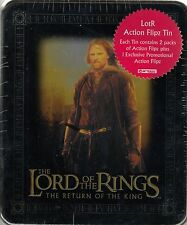 LORD RINGS RETURN OF THE KING 2003 COLLECTIBLE ACTION FLIPZ TIN 2 PACKS ARAGORN