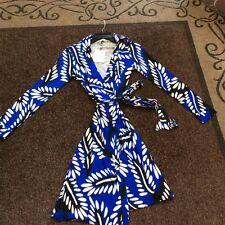 DVF NEW JEANNE TWO SILK WRAP DRESS Size 0, 8