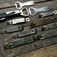 VINTAGE LOT OF 11 BOTTLE CAN BEER OPENERS WINE CORKSCREW LOT