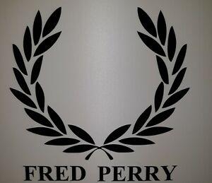 "Fred Perry 4"" x 4"" Car  Scooter lambretta vespa Camper Van Decal sticker"