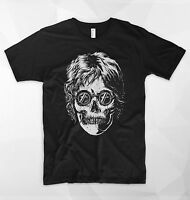 John Lennon Skull Skeleton T Shirt Top Gift The Beatles Paul McCartney Rock Roll