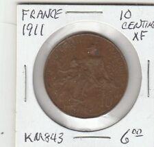 Lam(Y) Coin - France - 1911 - 10 Centim Xf
