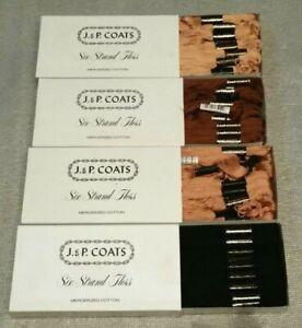 4 boxes J & P Coats 6 strand mercerized cotton floss-black & brown shades
