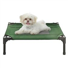 Xsmall Sm Dog Cat Bed Indoor Outdoor Raised Elevated Cot 24 x 18 Inch Green