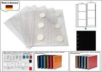 5 LOOK 1-7390-5 Münzhüllen PREMIUM 6 Fächer für Münzen bis 70 mm + schwarze ZWL