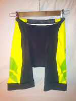 🙂Pearl Izumi Elite Cycling Shorts Size Small Black Green Yellow🙂