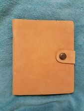 New listing Suede Leather Notebook, 7 inches by 5 inches - tan color