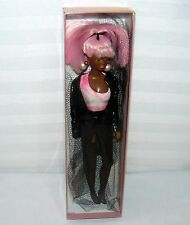 """KAYANDE AFRICAN AMERICAN MODEL GIRL DOLL 11"""" FIGURE PINK HAIR PARTY"""