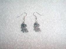 Chinese Dragon Pair of Earrings Jewelry Pierced Fashion Custom Handmade