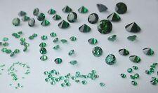 1 CZ Smaragd-grün 10 mmØ Brillantschliff Cubic Zirkonis synthetischer Edelstein.