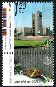 Israel 1441 tab, MNH. Memorial Day. Monument for the Fallen Nahal Soldiers, 2001