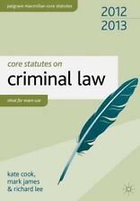 New, Core Statutes on Criminal Law 2012-13 (Palgrave Macmillan Core Statutes), L