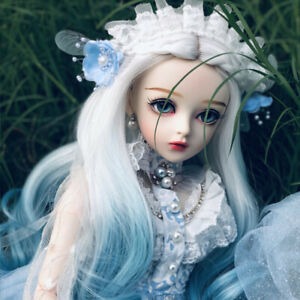 1/3 Ball Jointed 60cm BJD Doll + Face Makeup + Eyes + Wigs + Clothes FULL SET