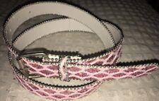 """Teen Girls Pink Sparkle Belt - 42"""" Long 32""""-38"""" Holes"""