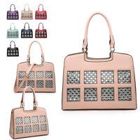 Ladies Diamante Patent Handbag Designer Shoulder Bag Glitter Tote Bag MA36480