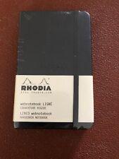Rodia A6 Black Web Notebook