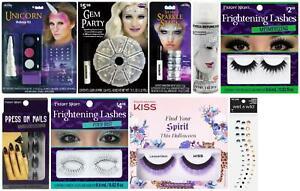LOT OF 9 - Multi-Brand Halloween Unicorn Makeup Kit | Nails Lashes Gems | Bundle