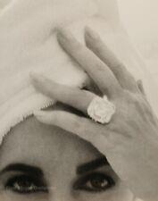1991 Vintage ELIZABETH TAYLOR Movie Actress HERB RITTS Eyes Ring Photo Art 16x20