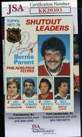 Bernie Parent JSA Coa Hand Signed 1978 Topps #70 Autograph