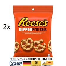 2x Reeses Dipped Pretzels Peanut Butter Milk Chocolate Brezeln (6,17€/100g)