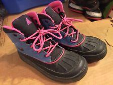 Nike ACG Blue/Black Woodside Winter Duck Boots Waterproof 524873-601 Size 3Y