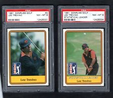 1981 Donruss Golf LEE TREVINO ~ 2 card lot ~ Both NM/MT PSA 8