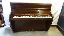 Small Art Deco Challen Overstrung Piano - Mahogany Case - Inc. Local Delivery