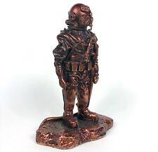 Mark V estatua de casco de Buceo Azul Marino Ejército Buzo Enchapado En Cobre estatuilla (resina) 203mm