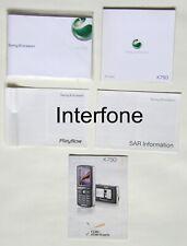 Original Handbook Pack & Software CD For Sony Ericsson K750i Mobile Phone